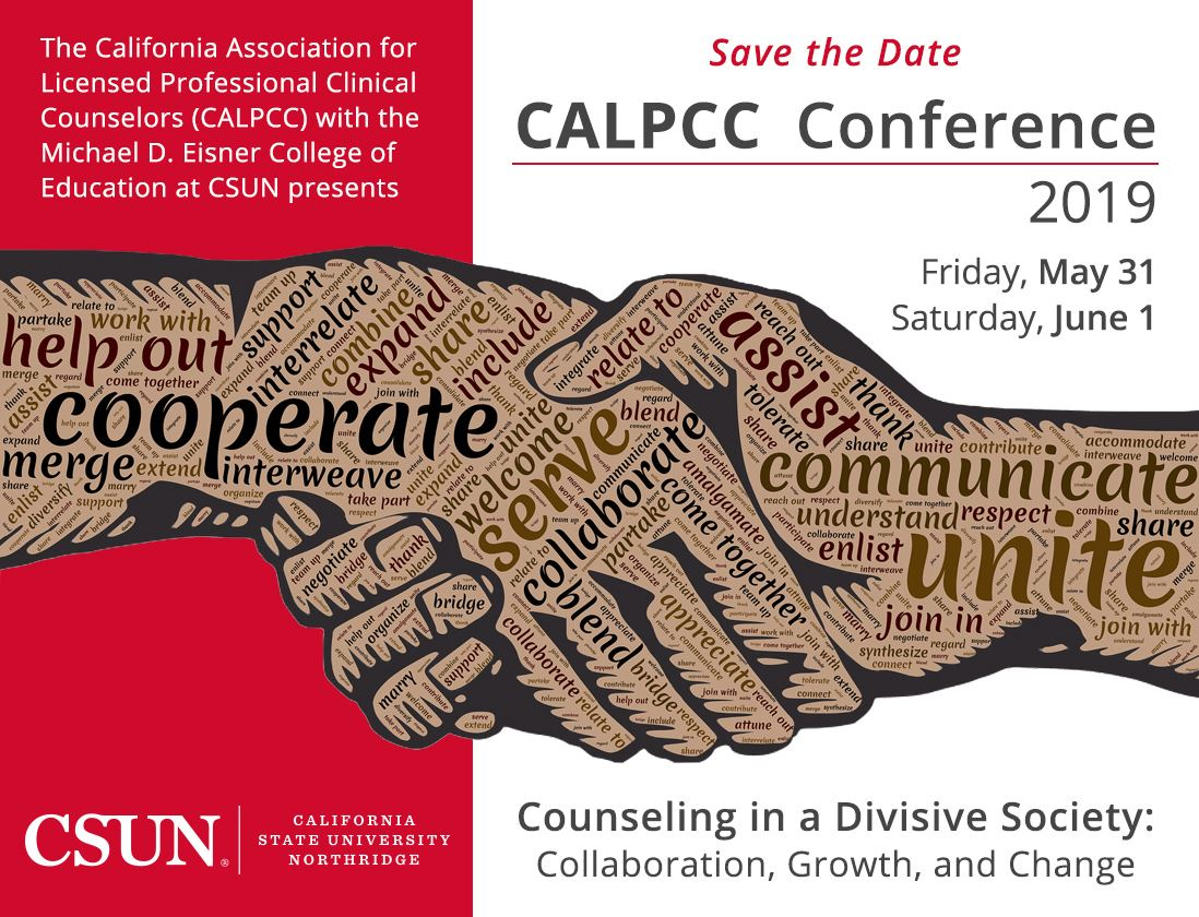 California Association for Licensed Professional Clinical Counselors conference flyer